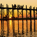 U bein bridge at Amarapura ,Mandalay, Myanmar.