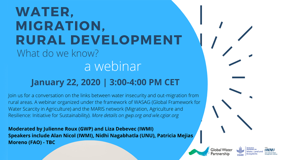 WEBINAR: Water, Migration, Rural Development: What do we know?