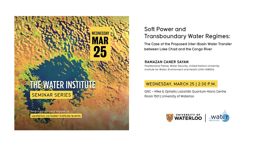 [POSTPONED] Seminar: Soft power and transboundary water regimes: The case of the proposed inter-basin water transfer between Lake Chad and the Congo River