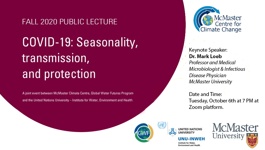 Fall 2020 Public Lecture- COVID-19: Seasonality, transmission and protection