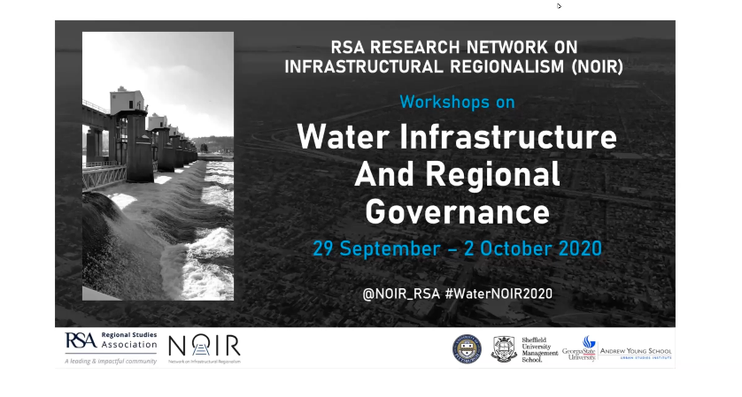 Regional Studies Association Workshop: Water Infrastructure and Regional Governance