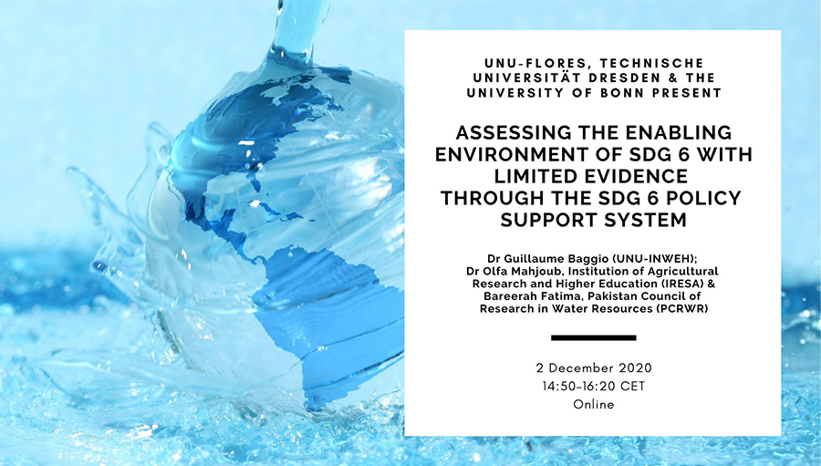 Event: Assessing the Enabling Environment of SDG 6 With Limited Evidence Through the SDG 6 Policy Support System
